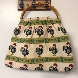 Handbags - Portuguese Rooster Rattan Boho Handbag